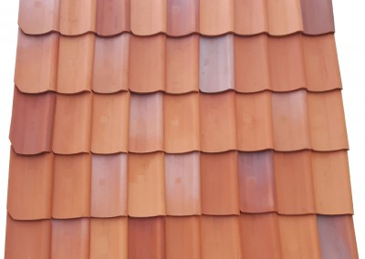 S-form pantile, play of colors
