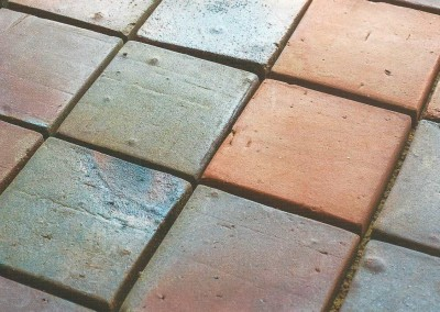 Floor tiles, original coal-fired