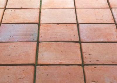 Fußbodenplatten, Original Kohlebrand