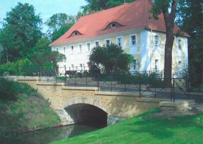bridge restoration  palace garden, Vetschau